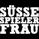 Suesse Spieler-Frau - Weiss