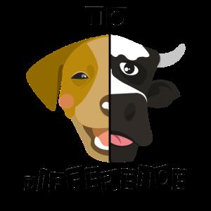 Veganer Tiere Hund Kuh Geschenk Vegan Veggie
