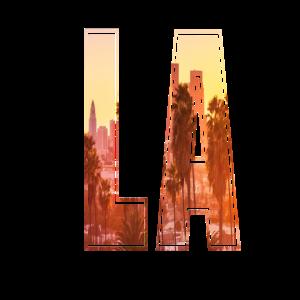 Los Angeles Tshirt Kalifornien Buchstaben Geschenk