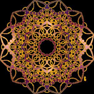 goldener Mandala