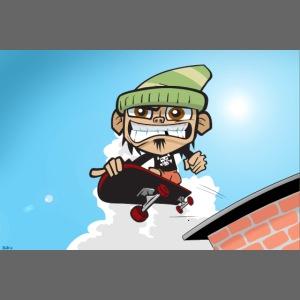 Skateboarding Slim