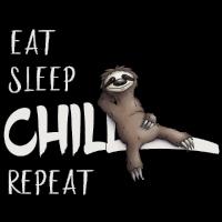 Eat Sleep Chill Repeat Faultier chillen Geschenk