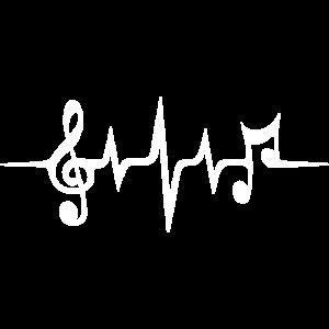 Herzschlag Musik Puls Notenschlüssel Musiknoten