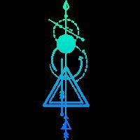 Pfeil mit Kugel und Dreieck