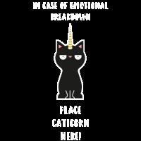 Katze Einhorn Notfall Tierfreund lustig Geschenk