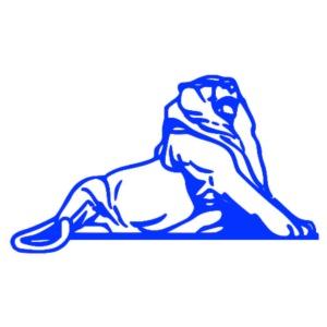 Lion de Belfort bleu