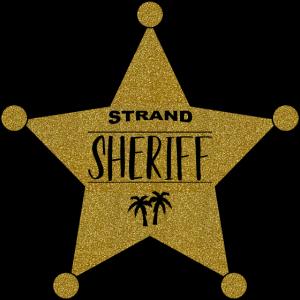 Sheriffstern Palmen Strand Sheriff Gold
