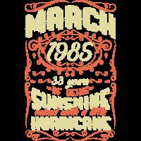 März 1985 Sunshine Jahrgang Hurricane 33 Geschenk