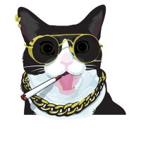 Cat, Punk, Geschenk, Cool, Witzig, Zigarette