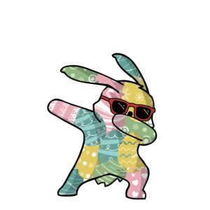 Dabbing Easter Bunny Osterhase Ostern