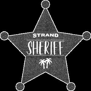 Sheriffstern Palmen Strand Sheriff Stone