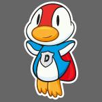 Fliegende Super-Ente hat Superkräfte