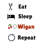 Eat Sleep Wigan Repeat