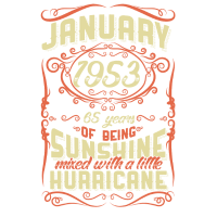 Januar 1953 Sunshine Jahrgang Hurricane 65 Gift