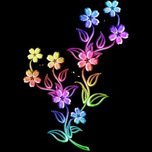Blumen bunt bunte Blumenranke Blume