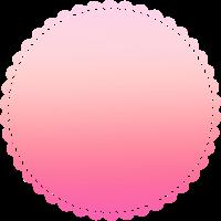 Pinkes schlichtes einfaches Kreis Design/Symbol