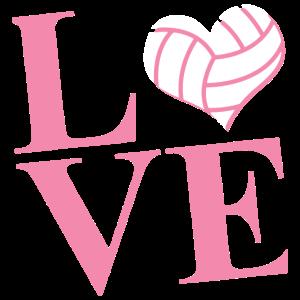 Liebes-Volleyball-Hemd