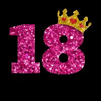 Glitter 2001 18 Jahre Geburtstag Pailletten Krone