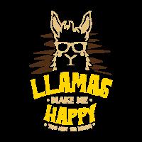 Lama Alpaka Kamel Tier Zoo Lustig Geschenk Idee