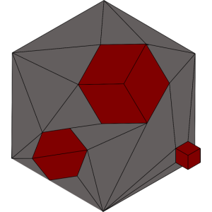 Damaged Cube Red