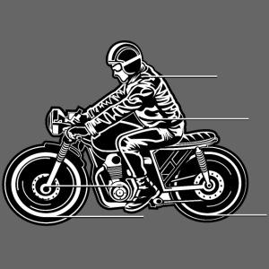 Cafe Racer Motorrad 04_schwarz weiß
