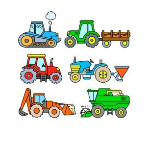 Traktoren - Fahrzeuge auf dem Bauernhof