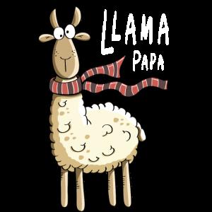 Papa Lama - Lamas - Alpaka - Comic - Winter - Kalt