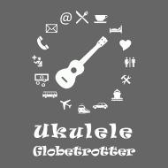 Motiv ~ Ukulele Globetrotter (weiss)