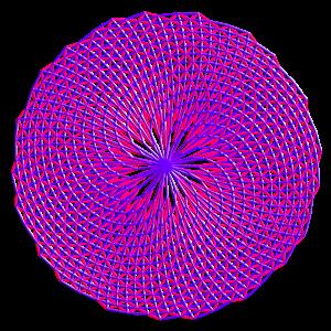 Fibonacci-Bild mit 4 Fibonacci-Spiralen