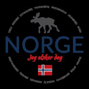 """Norwegen button (""""Norwegen - Ich liebe dich"""")"""
