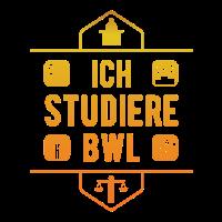 Ich studiere BWL orange Studenten Shirt