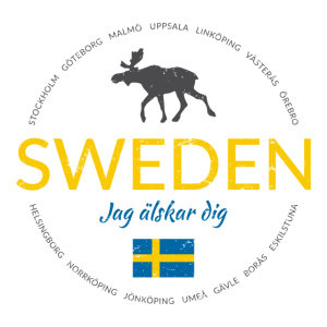 """Schweden button (""""Schweden - Ich liebe dich"""")"""