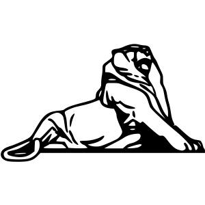 Lion de Belfort noir