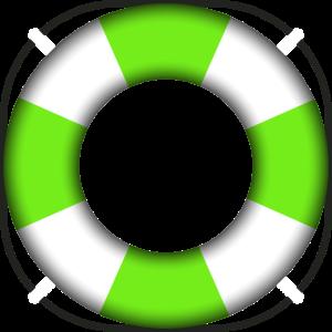 Schwimmring Rettungsring grün