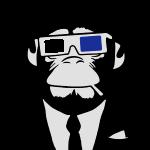 3D Ape Monkey Monkey Electroclub Headphones Headphones motif