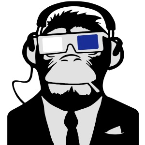 Urban Electro 3D Designs: Ape 3D Monkey Affe Electro Club Headphones Kopfhörer Motiv