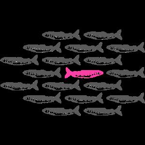 Fisch gegen den Strom Fish against the Line