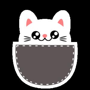Niedliche Tiere Katze in Tasche Pocket Manga
