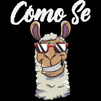 Lustiges Lama Shirt Como Se Llama Spanisch Sprache