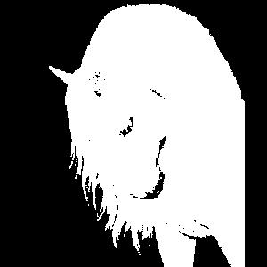 Weißes Pferdekopf-T-Shirt Geschenk Liebe der Pferde