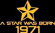 Jahrgang 1970 Geburtstagsshirt: stern geburtstag geboren 1971