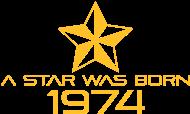 Jahrgang 1970 Geburtstagsshirt: stern geburtstag geboren 1974