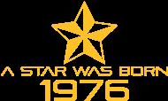 Jahrgang 1970 Geburtstagsshirt: stern geburtstag geboren 1976