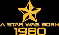 Jahrgang 1980 Geburtstagsshirt: stern geburtstag geboren 1980