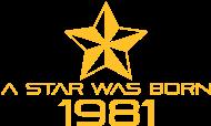 Jahrgang 1980 Geburtstagsshirt: stern geburtstag geboren 1981