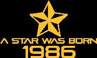 Jahrgang 1980 Geburtstagsshirt: stern geburtstag geboren 1986
