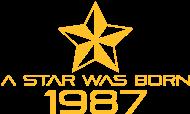 Jahrgang 1980 Geburtstagsshirt: stern geburtstag geboren 1987