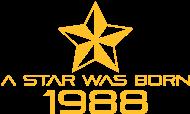 Jahrgang 1980 Geburtstagsshirt: stern geburtstag geboren 1988
