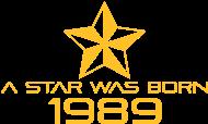 Jahrgang 1980 Geburtstagsshirt: stern geburtstag geboren 1989