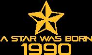 Jahrgang 1990 Geburtstagsshirt: stern geburtstag geboren 1990